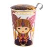 Tisanière Little Egypt Lilas porcelaine double paroi avec filtre - 35 cl