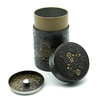 boite-a-the-yumiko-noir-or-150g-decor-fleurs-bouchon-hermetique