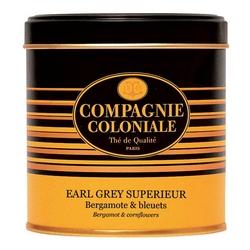 Thé Earl Grey Supérieur en boîte métal luxe de 120 g