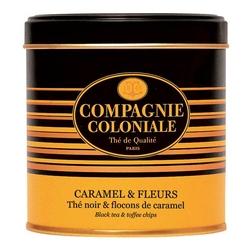 Thé Caramel & Fleurs en boîte métal luxe de 120 g