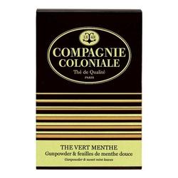 Thé Vert Menthe en boîte de 25 sachets Berlingo de Compagnie Coloniale