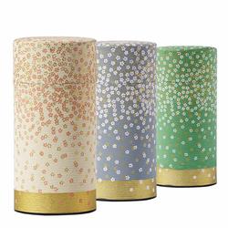 Boîte à thé ronde - Motifs floraux fins - 150 g - Coloris multiples