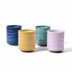 Tasse - Effet poterie - 150 mL - Coloris multiples