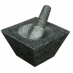 Mortier pilon trapèze en granit
