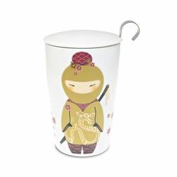Tisanière Little Ninja Or porcelaine double paroi 35cl avec filtre