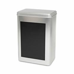 Boîte à thé rectangulaire avec support d'écriture ardoise - 400g