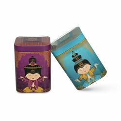 Lot de 2 boîtes à thé Shiva - Format carré - 50g