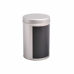 Boîte à thé ronde avec support d'écriture ardoise - 200g