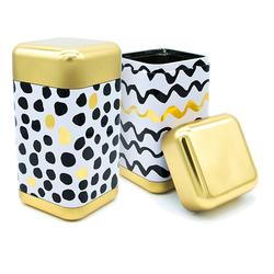 Boîte à thé Black & White