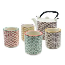 Service à thé en porcelaine et motifs scandinaves - 0,70L