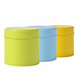 Boîte à thé ronde - 80 g - Coloris multiples