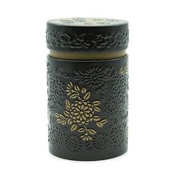 Boîte à thé Yumiko noir et or - 150 g