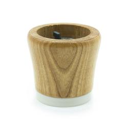 Tête de moulin Rio en bois naturel