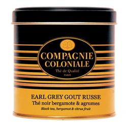 Thé Earl Grey Goût Russe en boîte métal luxe de 100 g