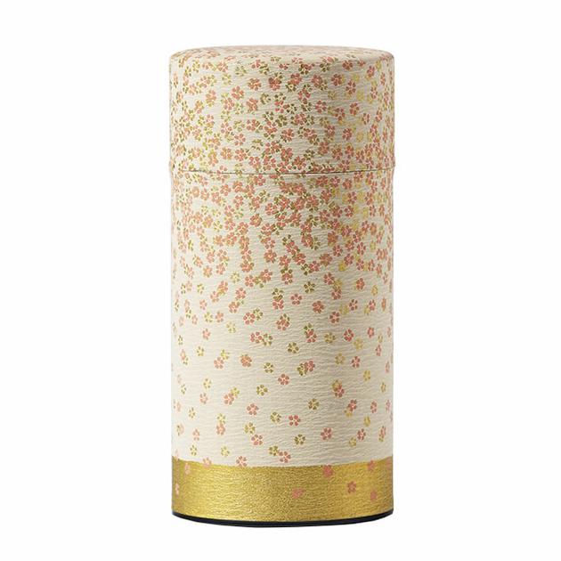 boite-a-the-japon-150g-pluie-florale-creme-rose