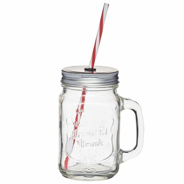 asse vintage Mason Jar en verre transparent
