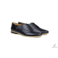 Derbies noires lisses grandes pointures