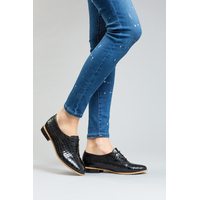 Derbies noires grande pointure