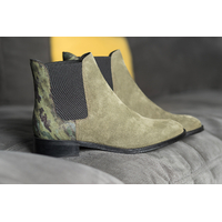 Chelsea Boots kaki ALIMA femme du 36 au 46 - Collection CAPSULE