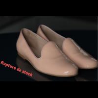 Slippers en cuir femme rose du 36 au 46