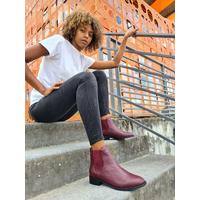 Chelsea Boots bordeaux ALIMA femme du 35 au 46 - Collection CAPSULE
