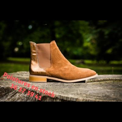 nouveau concept c87b4 592e0 Chelsea Boots kaki ALIMA femme du 36 au 46 - Collection ...