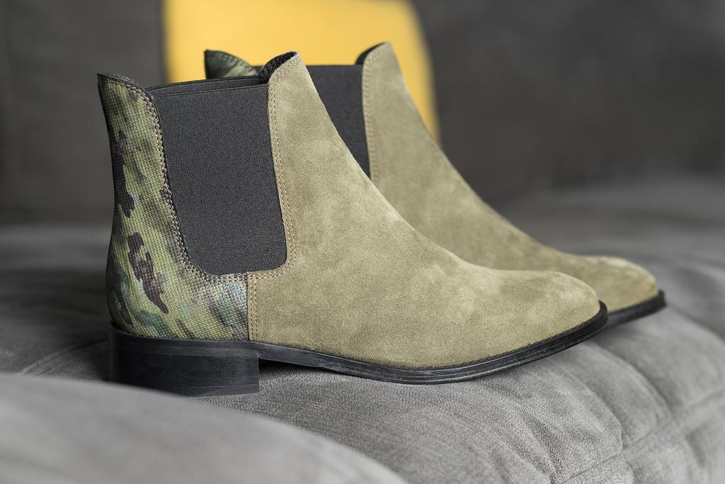 92a06b0fd4ae49 Chelsea Boots kaki ALIMA femme du 36 au 46 - Collection CAPSULE ...