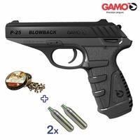 Réplique 4.5mm GAMO P 25 BLOWBACK CO2 - Quantité limitée !