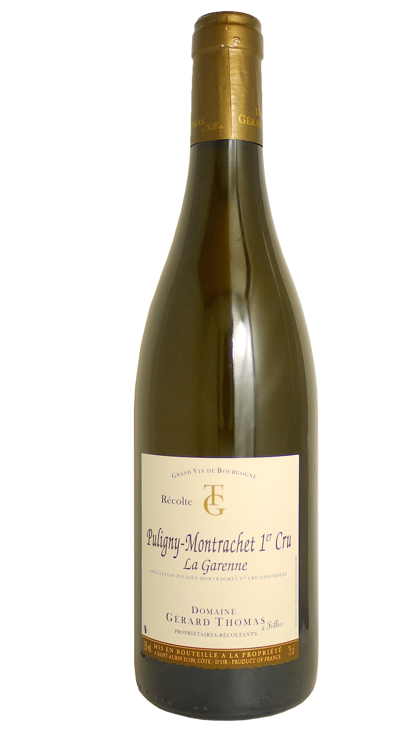puligny montrachet 1er cru la garenne 2016 domaine g rard thomas. Black Bedroom Furniture Sets. Home Design Ideas