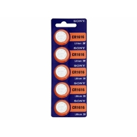 5 piles Sony CR1616 Pile Bouton Lithium - 3V (blister de 5 piles)