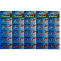 50 Piles alcaline AG4 LR626 LR626SW 377A SR 626 SR377 G4 - 1,5v de marque Eunicell