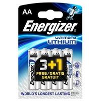 4 piles lithium AA l91 Energizer 1.5 volt