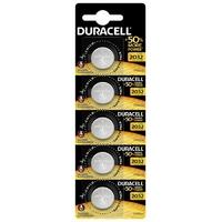Plaque de 5 piles au lithium Duracell CR2032 DL2032 ECR2032 5BL HSDC 3 volt