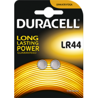 2 piles LR44 Duracell - AG13 (Blister de 2 piles )
