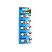 EUNICELL Lot de 10 piles AG12 LR43 G12A 1176a 186