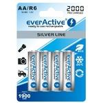 4 Piles rechargeables everActive R6 / AA Ni-MH 1900 mAh prêt à l'emploi