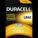 2 piles LR43 Duracell 1,5v ( blister de 2)