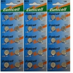 Eunicell 30 PILES BOUTON ALCALINES LR44 AG13 A76 1.5V