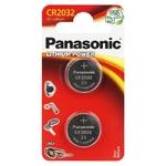 Panasonic - 1 blister de 2 piles lithium 3v CR2032