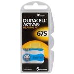6 x piles pour prothèses auditives Duracell ActivAir 675 MF