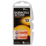 6  piles pour prothèses auditives Duracell ActivAir 13 MF