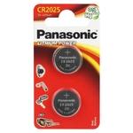 Blister de 2 piles CR2025 lithium 3 volts Panasonic