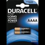2 piles  AAAA / LR61 / 25A / LR8D425 / MN2500 / MX2500 / E96 Duracell 1.5 volt