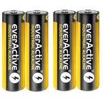 4 piles alcalines LR6 Industrial / AA  everActive