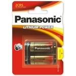 1 pile Panasonic lithium photo 2CR5 DL245 6 volt