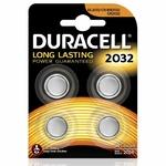 1 blister de 4 piles CR2032 Duracell litium 3 volt