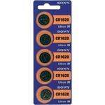 Piles bouton lithium CR 1620 78 mAh 3 V Sony blister de 5 piles