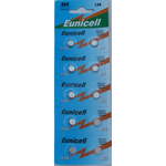 10 Piles alcaline AG4 LR626 LR626SW 377A SR 626 SR377 G4 - 1,5v de marque Eunicell (blister de 10)