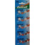 EUNICELL - Lot de 10 PILES SR936SW / AG9 / SR936 / LR936 / 394 / 1,5V ALCALINE