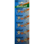 Eunicell 10 PILES BOUTON ALCALINES LR44 AG13 A76 1.5V